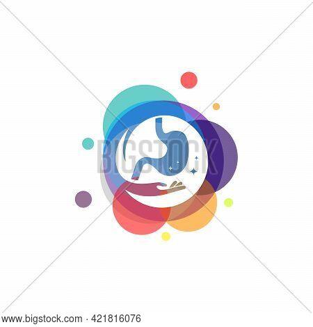 Colorful Stomach Care Logo Vector, Stomach Health Logo Designs Template, Design Concept, Logo, Logot