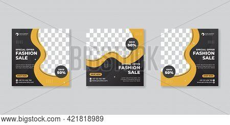 Editable Template Post For Social Media Ad. Web Banner Ads For Promotion Design