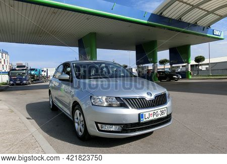 Nurnberg, Germany - June 03, 2014: Omv Petrol Filling Station.