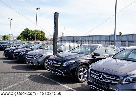 Bordeaux , Aquitaine France - 05 18 2021 : Mercedes Benz Certified Park Second Hands Car Sign Store