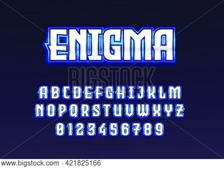 Superhero Game Logo Style Text Effect. Set Of Number And Alphabet Template With Modern And Futuristi