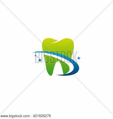 Modern Dental Logo Designs Concept Vector, Dental Care Logo With Swoosh Symbol