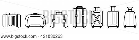 Baggage Icon. Linear Icons Of Baggage. Vector Illustration. Travel Concept. Set Of Baggage Icons