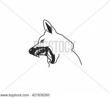 Hand Drawn Vector Abstract Stock Flat Graphic Illustration With Logo Element, Mystic Tribal Magic Li