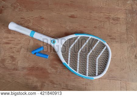 Mosquito Fly Swatter Or Electric Mosquito Trap Isolated On White Background.