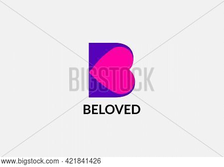 Beloved Abstract B Letter Initial Lettermaks Logo