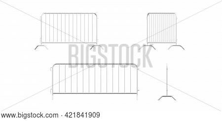Barricade Mockup Isolated On A White Background - 3d Render