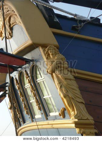 Figurehead On Stern Of Tall Ship