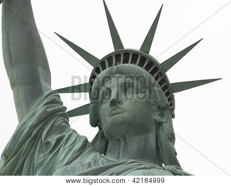 Statue Of Liberty Close Up On Face