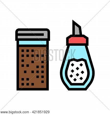 Cinnamon And Sugar Bottle Color Icon Vector. Cinnamon And Sugar Bottle Sign. Isolated Symbol Illustr
