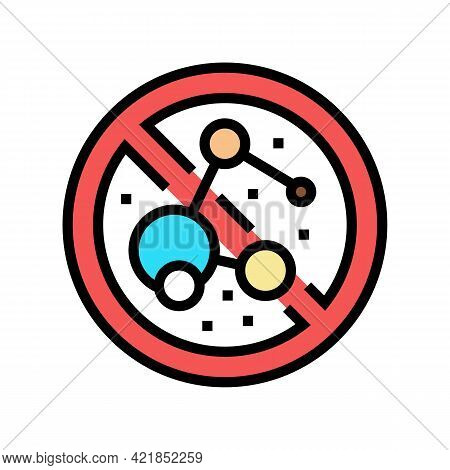 Stop Use Bacterial Soap Color Icon Vector. Stop Use Bacterial Soap Sign. Isolated Symbol Illustratio