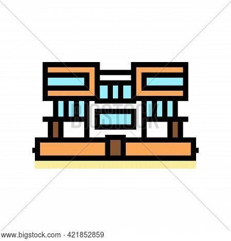 Villa House Color Icon Vector. Villa House Sign. Isolated Symbol Illustration