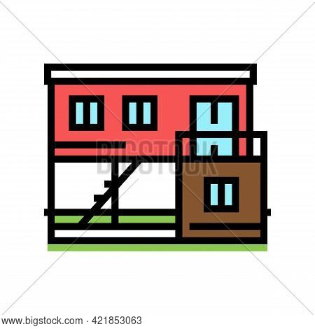 Container Home Color Icon Vector. Container Home Sign. Isolated Symbol Illustration