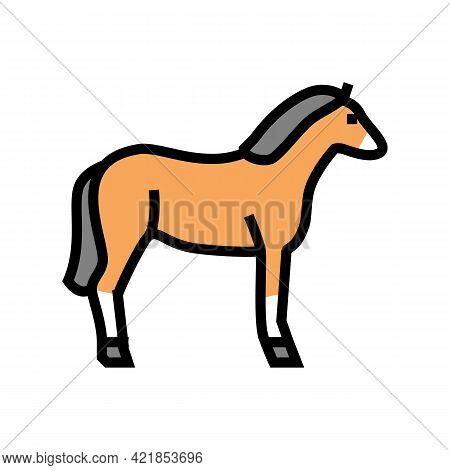 Horse Animal Color Icon Vector. Horse Animal Sign. Isolated Symbol Illustration