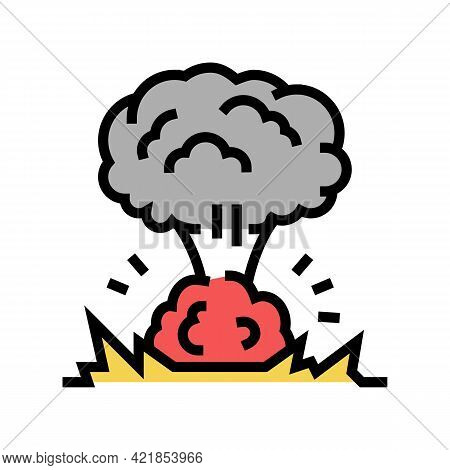 Explosion Smoke Color Icon Vector. Explosion Smoke Sign. Isolated Symbol Illustration