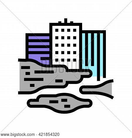 Urban Smog Smoke Color Icon Vector. Urban Smog Smoke Sign. Isolated Symbol Illustration