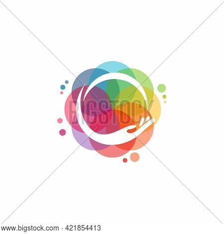 Colorful People Care Logo Vector, Health Care Logo Designs Template, Design Concept, Logo, Logotype