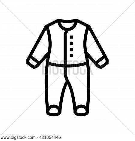 Body Clothes Baby Line Icon Vector. Body Clothes Baby Sign. Isolated Contour Symbol Black Illustrati