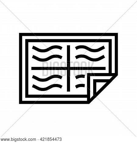 Diapie Baby Line Icon Vector. Diapie Baby Sign. Isolated Contour Symbol Black Illustration