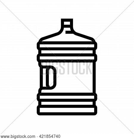 Water Bottle For Prepare Coffee Line Icon Vector. Water Bottle For Prepare Coffee Sign. Isolated Con