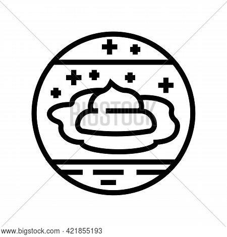 Arid Climates Line Icon Vector. Arid Climates Sign. Isolated Contour Symbol Black Illustration