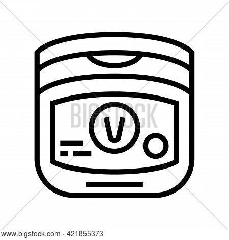 Petroleum Jelly Dry Skin Treat Line Icon Vector. Petroleum Jelly Dry Skin Treat Sign. Isolated Conto