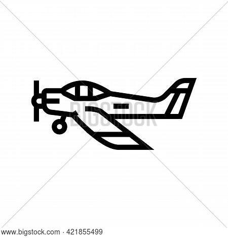 Airplane Flight School Line Icon Vector. Airplane Flight School Sign. Isolated Contour Symbol Black