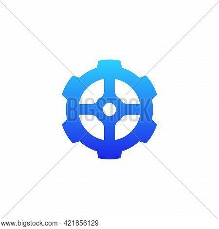 Mechanic Simple Gear Logo Designs Template Vector
