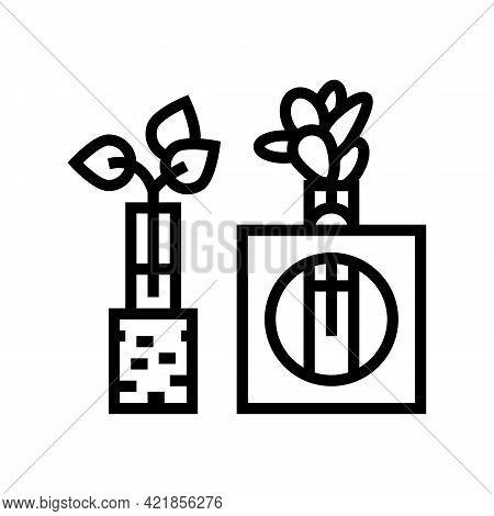 Integration Station Line Icon Vector. Integration Station Sign. Isolated Contour Symbol Black Illust