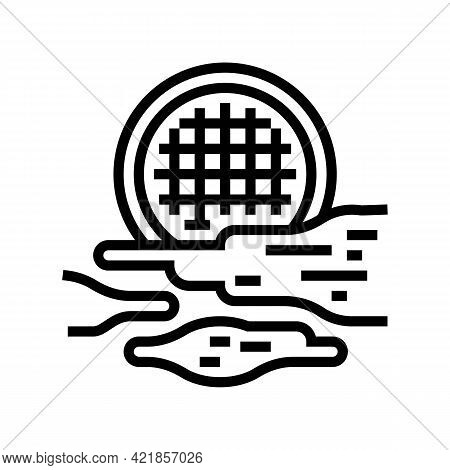 Fog Light Line Icon Vector. Fog Light Sign. Isolated Contour Symbol Black Illustration