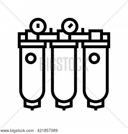 Air Purification System Line Icon Vector. Air Purification System Sign. Isolated Contour Symbol Blac