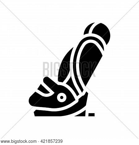 Car Seat Baby Glyph Icon Vector. Car Seat Baby Sign. Isolated Contour Symbol Black Illustration