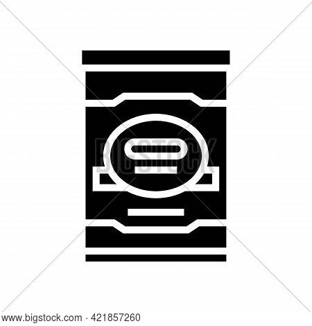 Milk Mister Food Baby Glyph Icon Vector. Milk Mister Food Baby Sign. Isolated Contour Symbol Black I
