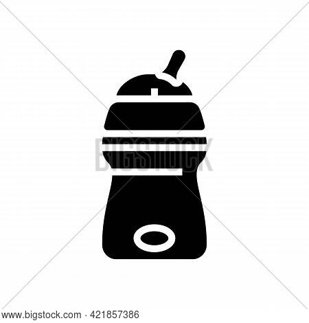 Bottle For Artificial Feeding Baby Glyph Icon Vector. Bottle For Artificial Feeding Baby Sign. Isola