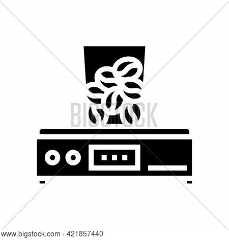 Coffee Grinder Device Glyph Icon Vector. Coffee Grinder Device Sign. Isolated Contour Symbol Black I