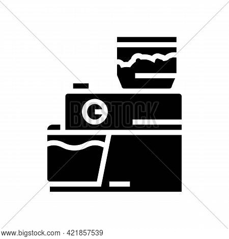 Device For Brewing Coffee Glyph Icon Vector. Device For Brewing Coffee Sign. Isolated Contour Symbol