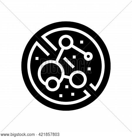 Stop Use Bacterial Soap Glyph Icon Vector. Stop Use Bacterial Soap Sign. Isolated Contour Symbol Bla