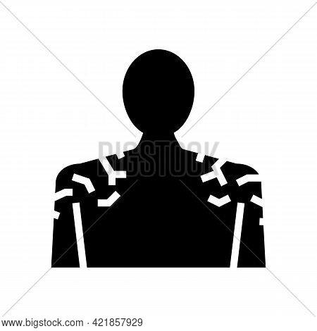 Shoulders Dry Skin Glyph Icon Vector. Shoulders Dry Skin Sign. Isolated Contour Symbol Black Illustr