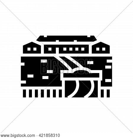 Ranch Style House Glyph Icon Vector. Ranch Style House Sign. Isolated Contour Symbol Black Illustrat