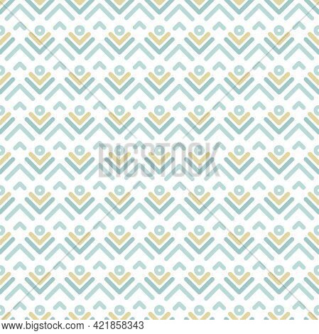 Seamless Pattern With Strokes And Rhombus On White Background. Ethnic Boho Symmetric Background. Mor