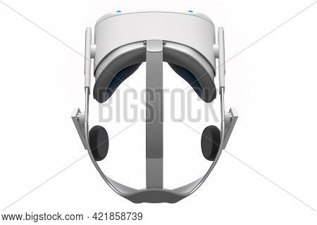 Virtual Reality Glasses Isolated On White Background. 3D Rendering