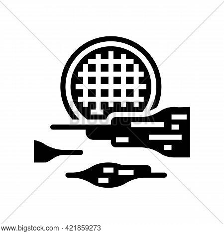 Fog Light Glyph Icon Vector. Fog Light Sign. Isolated Contour Symbol Black Illustration