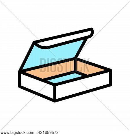 Delivering Package Box Color Icon Vector. Delivering Package Box Sign. Isolated Symbol Illustration