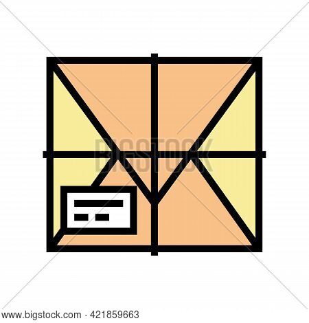 Parcel Box Color Icon Vector. Parcel Box Sign. Isolated Symbol Illustration