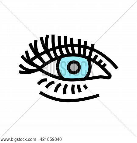 False Eyelashes Color Icon Vector. False Eyelashes Sign. Isolated Symbol Illustration