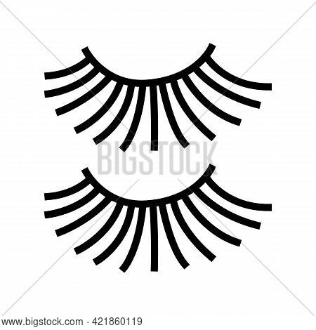Beauty Accessory Eyelashes Color Icon Vector. Beauty Accessory Eyelashes Sign. Isolated Symbol Illus
