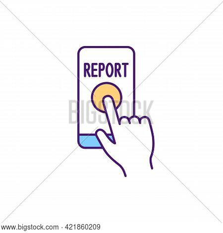 Reporting Bullying Incidents Rgb Color Icon. Anti-bullying Practice. Making Complaint About Human Ri