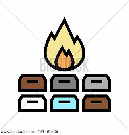 Collective Pet Funeral Color Icon Vector. Collective Pet Funeral Sign. Isolated Symbol Illustration