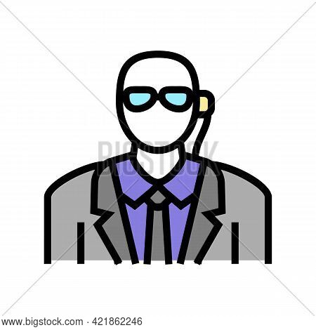 Private Security Color Icon Vector. Private Security Sign. Isolated Symbol Illustration