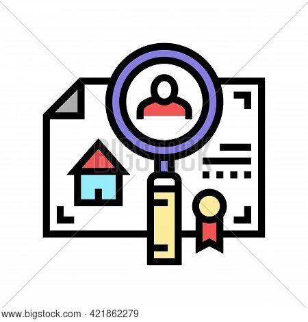 Checking Tenant Recommendations Color Icon Vector. Checking Tenant Recommendations Sign. Isolated Sy